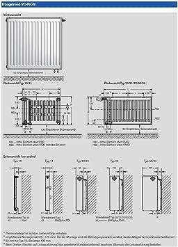 Buderus vanne radiateur type 11 600x400 avec support u bouchon