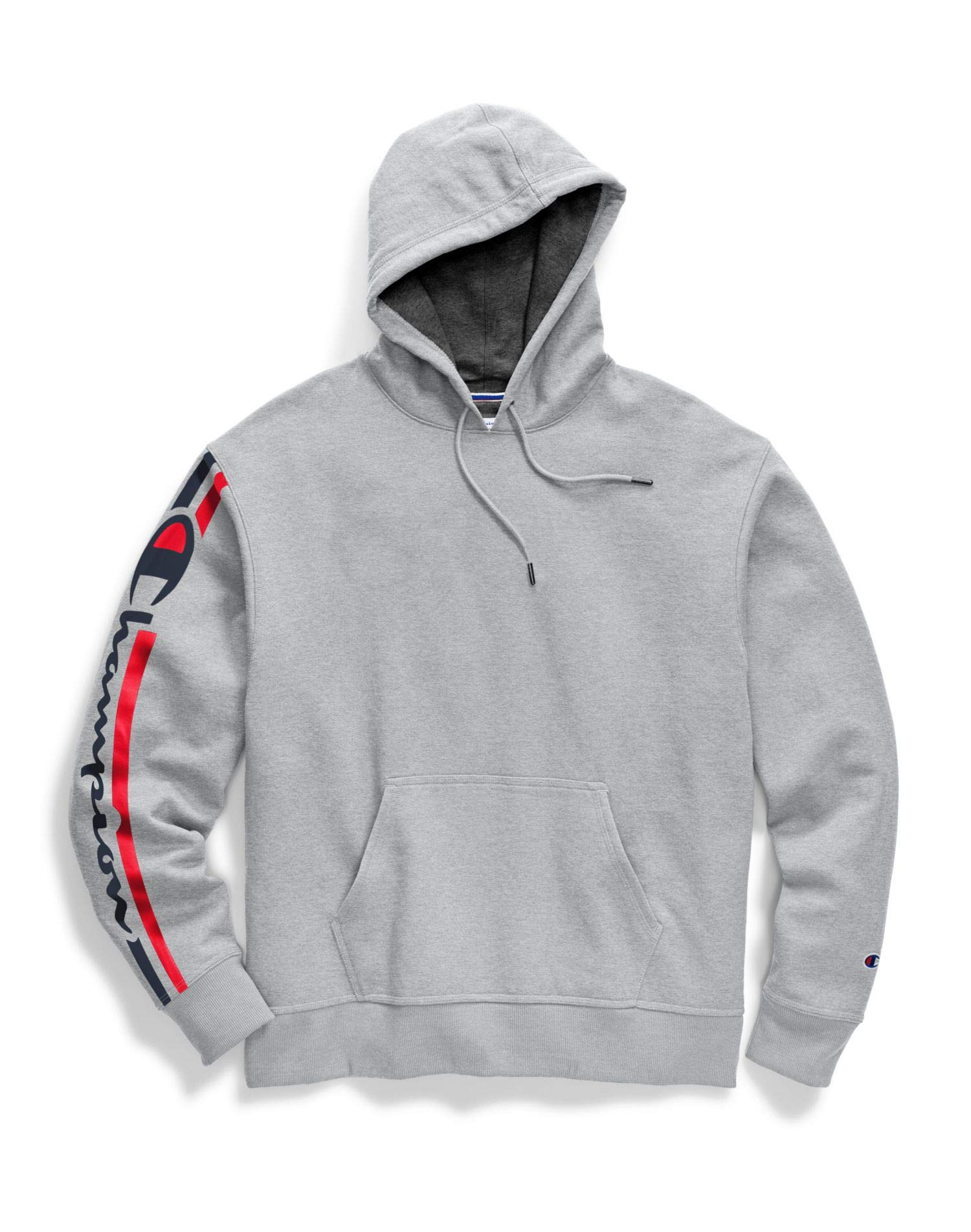 Champion Mens Powerblend Pullover Hoodie, XL, Vertical Oxford Grey by Champion