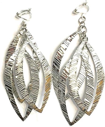Elegant Women Boho Ear Feather Leaf Drop Dangle Earrings Hook Jewelry A Pair//set