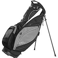 IZZO Golf Izzo Lite Stand Golf Bag Dark Blue/Light Blue/White Walking Ultra Light Perfect for Carrying on The Golf…