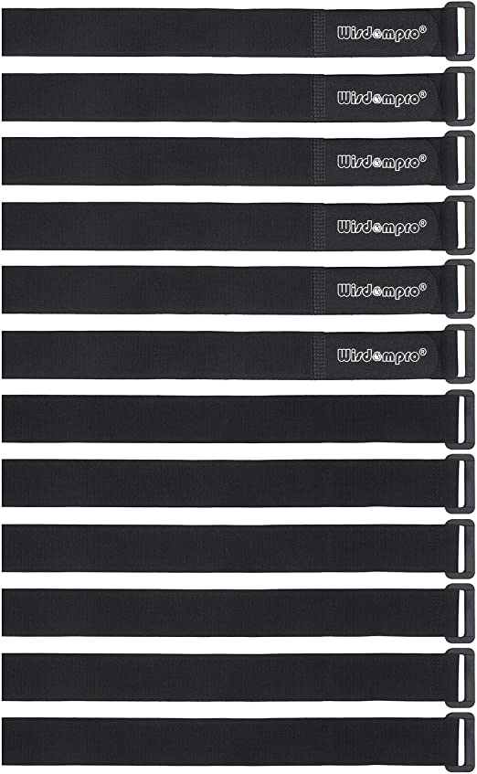 """16 Pack X 18/"""" Hook And Loop Reusable Fastening Nylon Cable Securing Straps By To"""