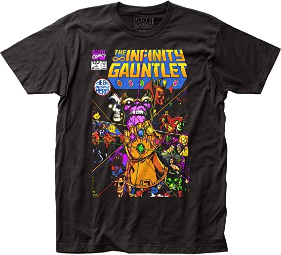 Marvel Thanos The Infinity Gauntlet Camiseta de manga corta para adulto: Amazon.es: Ropa y accesorios