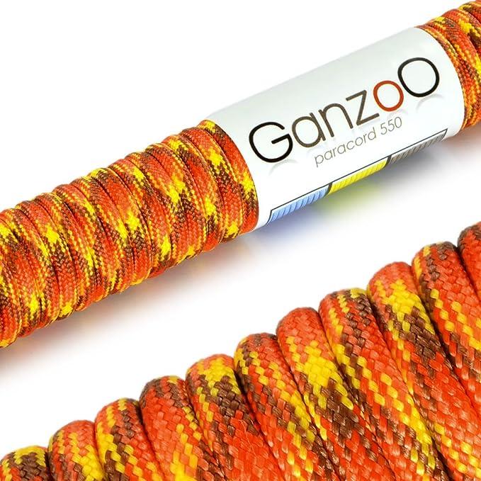 Halsband Ganzoo Paracord 550 Seil f/ür Armband Multicolor Leine Nylon-Seil 15 Meter