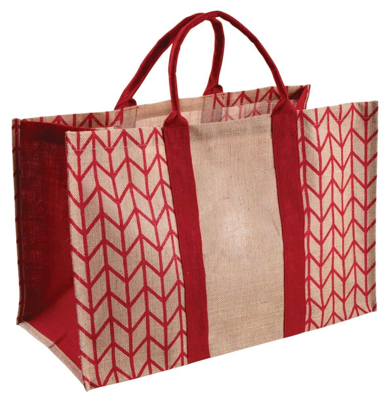 Bolsa para leña (yute plastificada color rojo: Amazon.es: Hogar