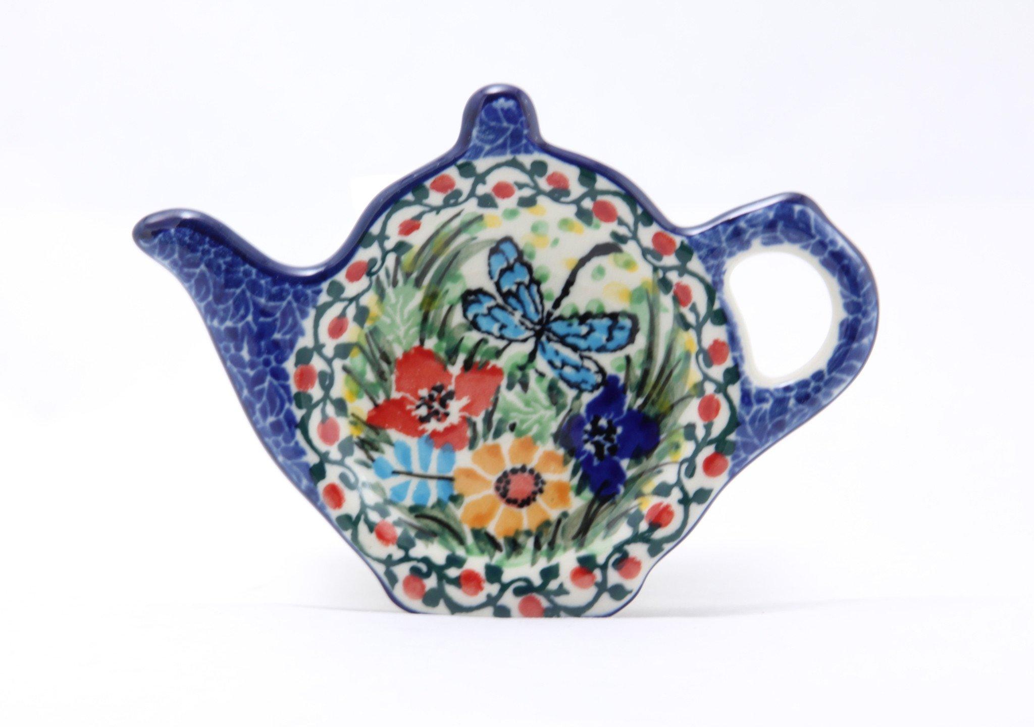 Ceramika Artystyczna Polish Pottery Handmade Ceramic Tea Bag Plate Made in Poland by Ceramika Artystyczna