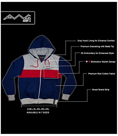 dd7fb3727f8 AWG - All Weather Gear Men's Cotton Hoodie Sweatshirt with Zip: Amazon.in:  Clothing & Accessories