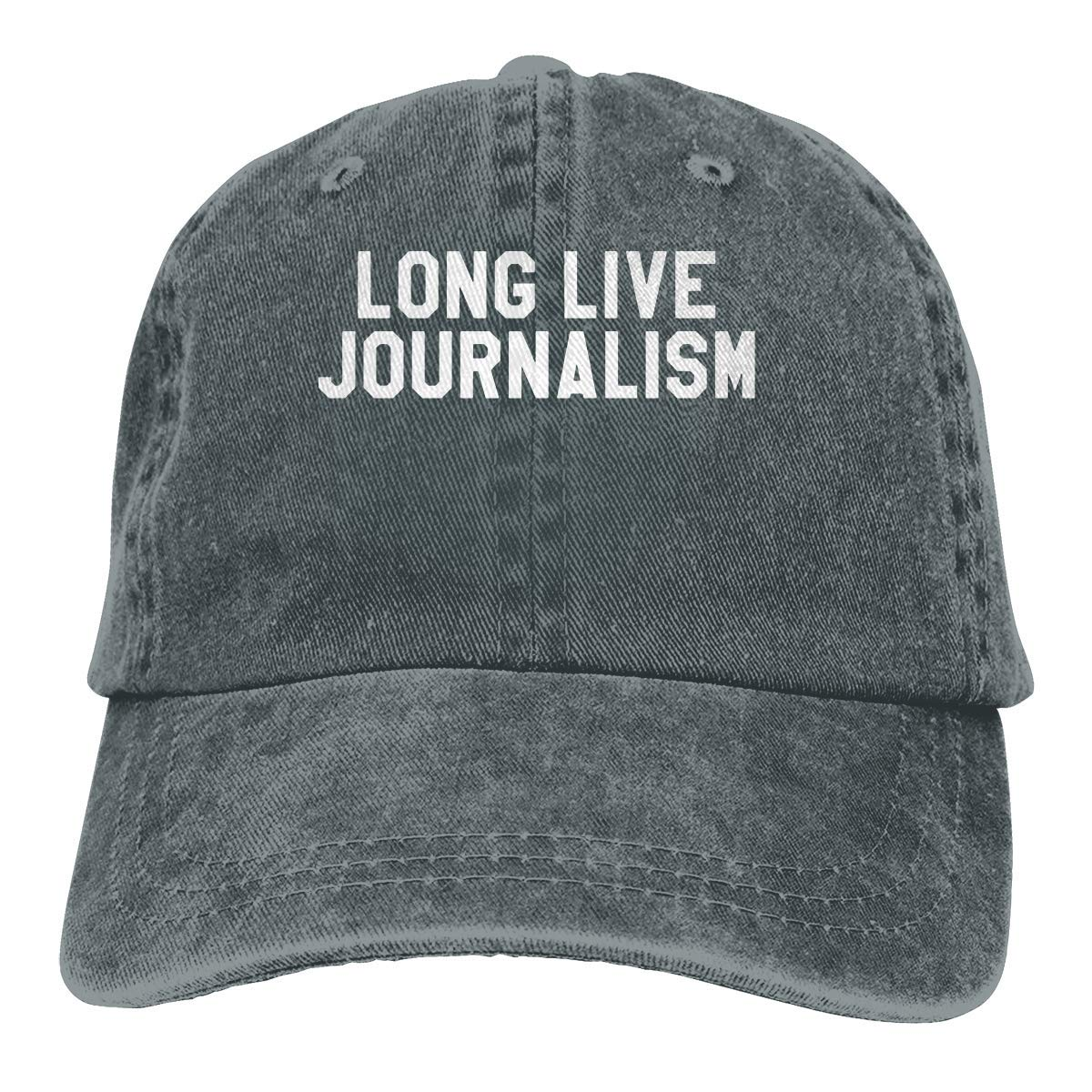 EHECD Long Live Journalism Denim Hats Washed Retro Baseball Cap Dad Hat