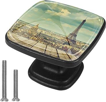 4 paquetes de perillas para cajones Tower City View Tiradores ...