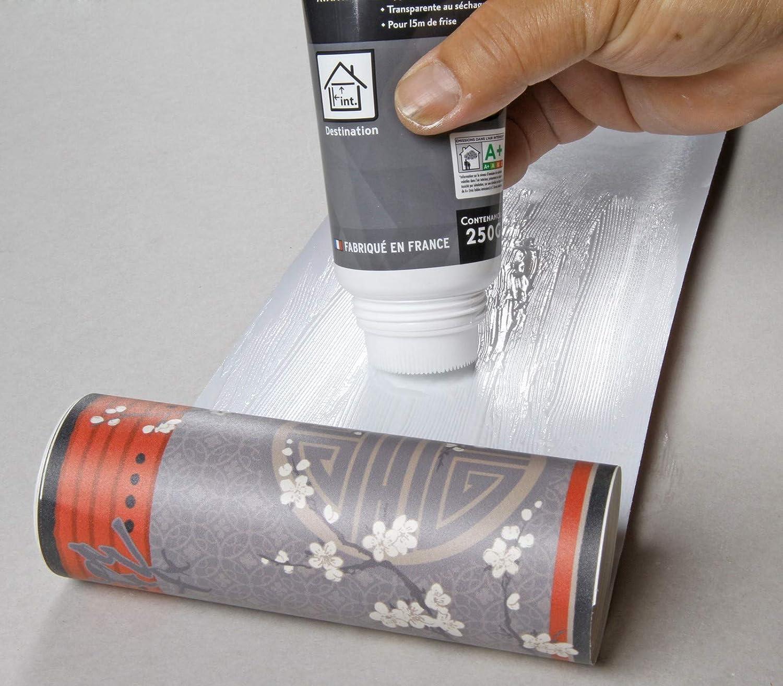 Pegamento para pegatinas interior frisas y empalmes de papel pintado Semin A08040 tubo de 250 g
