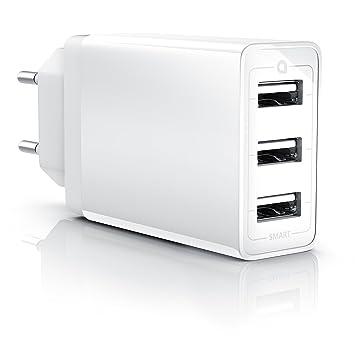 CSL - 30 W USB 3 Puerto Cargador/Fuente con Smart Charge + ...