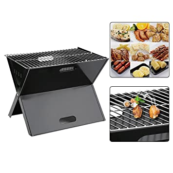 iCoco plegable Mini - Barbacoa portátil BBQ plegable camping portátil barbacoa parrilla plegable: Amazon.es: Jardín