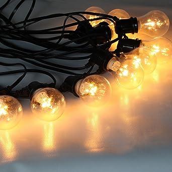 guirlande guinguette lumineuse professionnelle 10 ampoules led rtro clairage blanc chaud idal extrieur - Guirlande Lumineuse Exterieur Professionnel