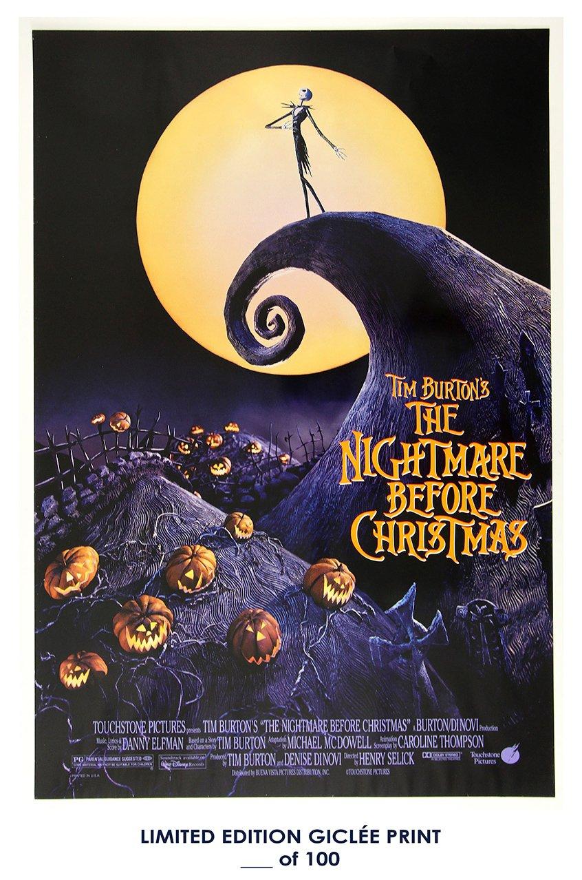 Amazon.com: RARE POSTER tim burton THE NIGHTMARE BEFORE CHRISTMAS ...