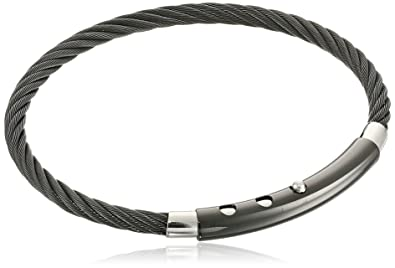 Amazon.com: De los hombres black-tone adjustable-cable ...
