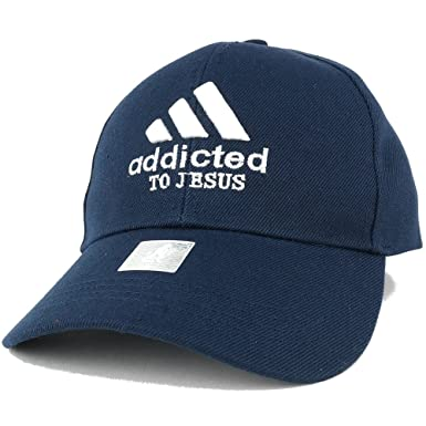 addicted embroidered christian theme adjustable baseball cap navy caps wholesale mens cheap