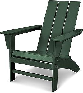 POLYWOOD AD420GR Modern Adirondack Chair, Green