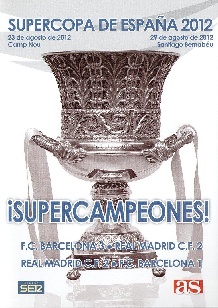 SUPERCOPA DE ESPAÑA 2012 FC Barcelona - Real Madrid DVD: Amazon.es: Cine y Series TV