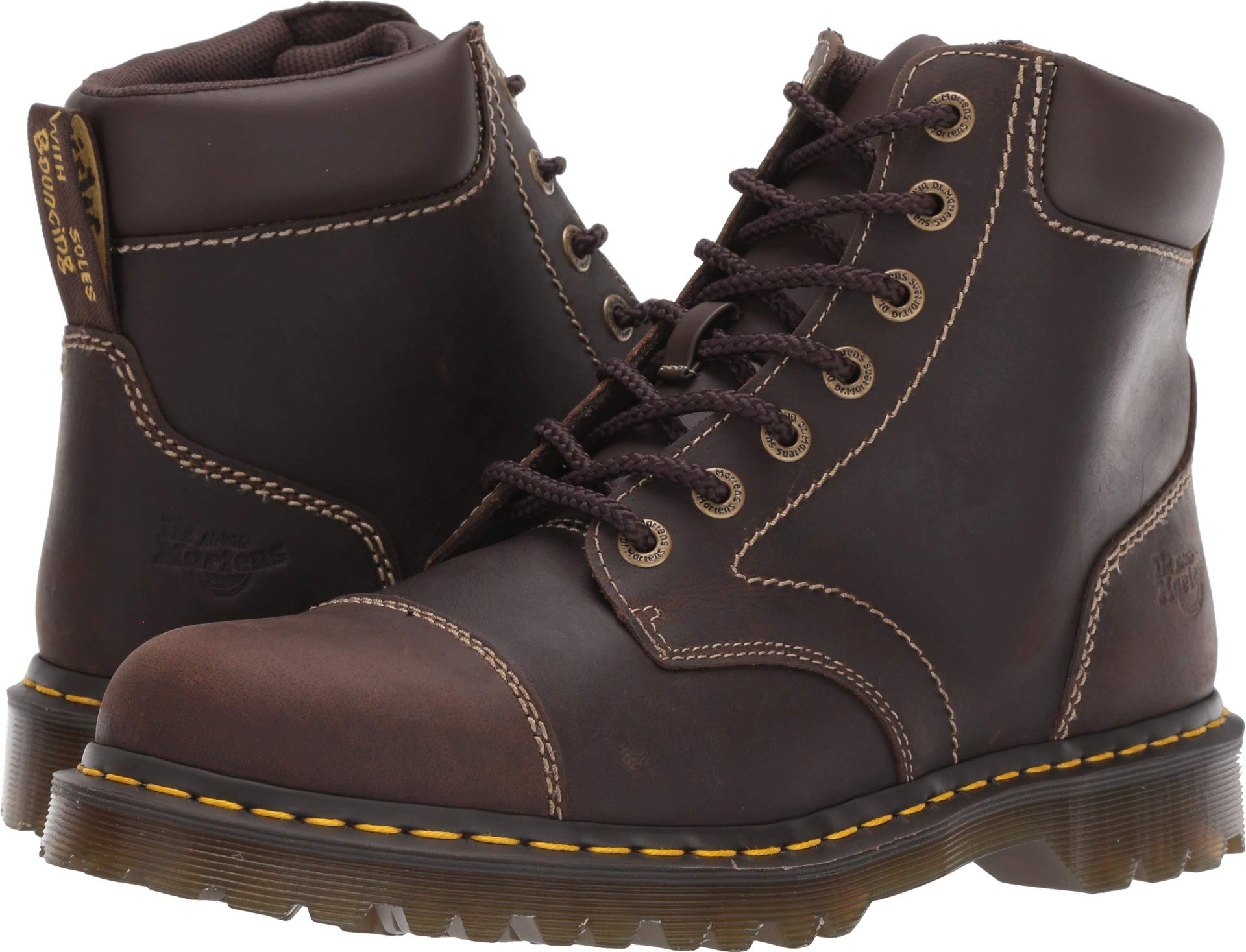 Dr. Martens Unisex-Adult Ranch Ns 7 Eye Boot, Size: 12 D(M) US / 11 F(M) UK / 13 B(M) US, Color: Brown Kingdom by Dr. Martens