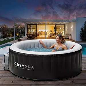 COSYSPA Inflatable Hot Tub Spa – Outdoor Bubble Jacuzzi | 2-6 Person Capacity – Quick Heating Hot Tub | Inflatable Hot Tub | Outdoor Inflatable Hot Tub Spa (Hot Tub Only - 6 Person)