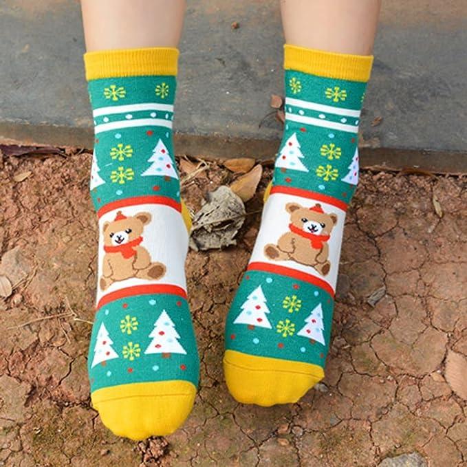 Kapmore Calcetines Mujer Tienda Cute Animales Calcetines Design Cotton Rich Socks (5 pairs): Amazon.es: Ropa y accesorios