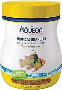 Aqueon 06190 Tropical Granules Fish Food, 3-1/4-Ounce