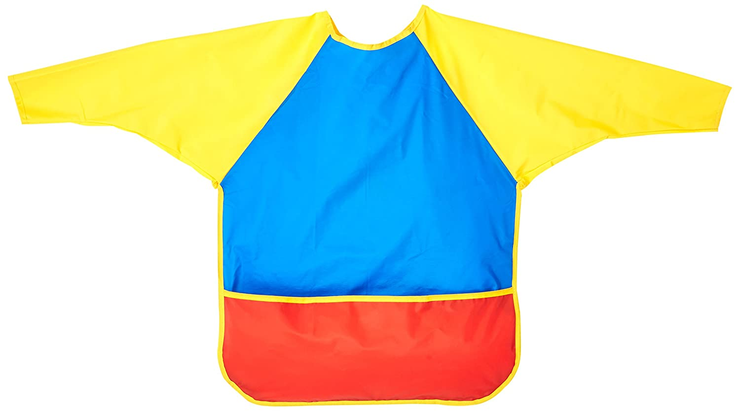 School Smart Full Protection Vinyl Smock, 3 to 6 Years, Multiple Colors