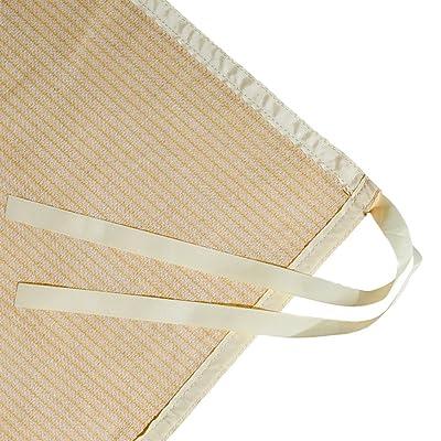 Shatex Shade Panel Block 90% of UV Rays with Ready-tie up Ribbon for Pergola Gazebo Porch 10' x 12', Wheat : Garden & Outdoor