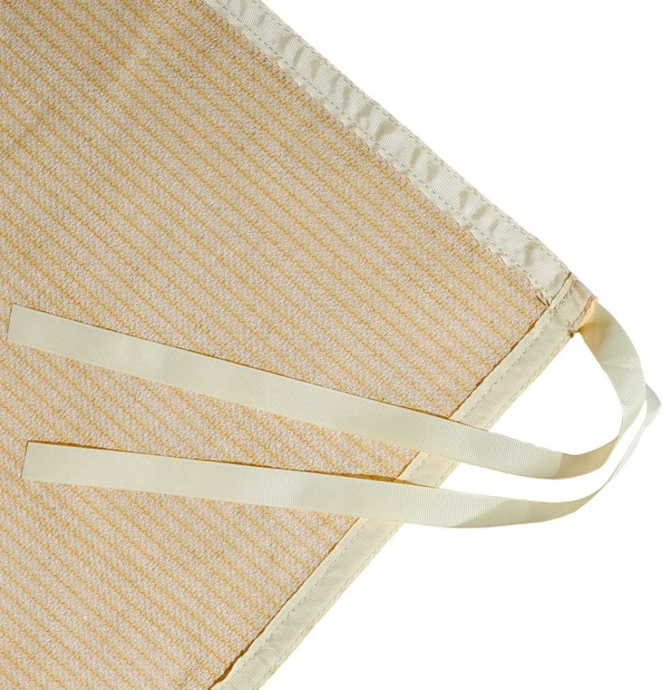 Shatex Shade Panel Block 90 of UV Rays with Ready-tie up Ribbon for Gazebo Porch 8 x 12 , Wheat