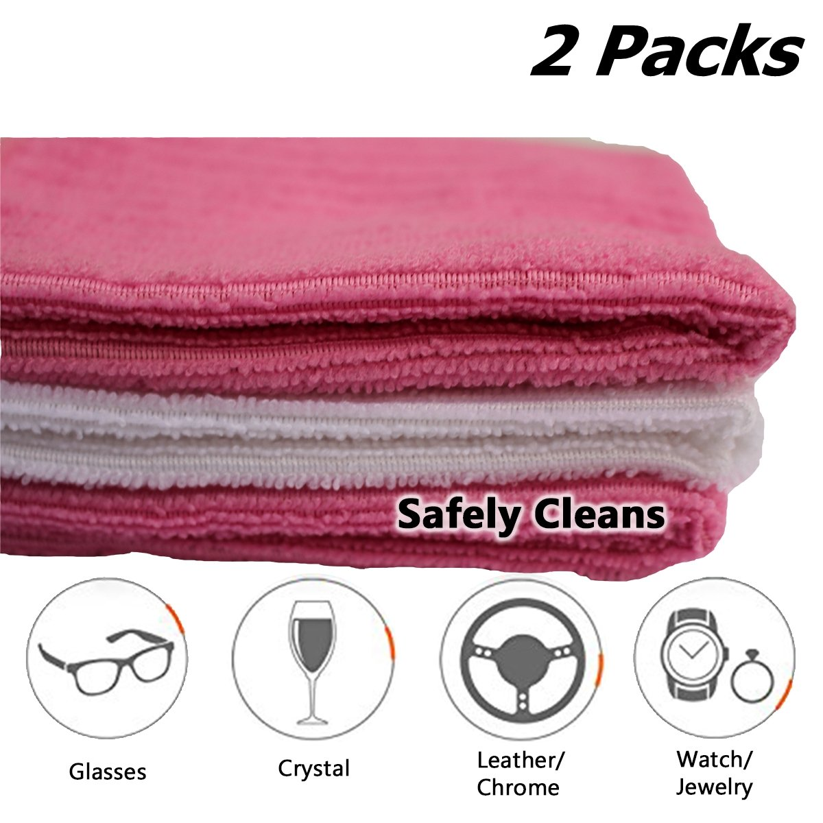 6 FACE CLOTHS Pink & White With Super Soft High Quality Micro Fibre Wash Bath Baby Towel Mask Spa Hand Pack Sheets Family Kids Gift Gym Travel Super Clean Absorbent Schöne Cosmetics (UK)