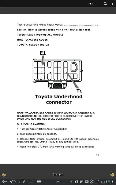 Amazon com: Toyota/Lexus SRS Airbag Repair Manual: Appstore