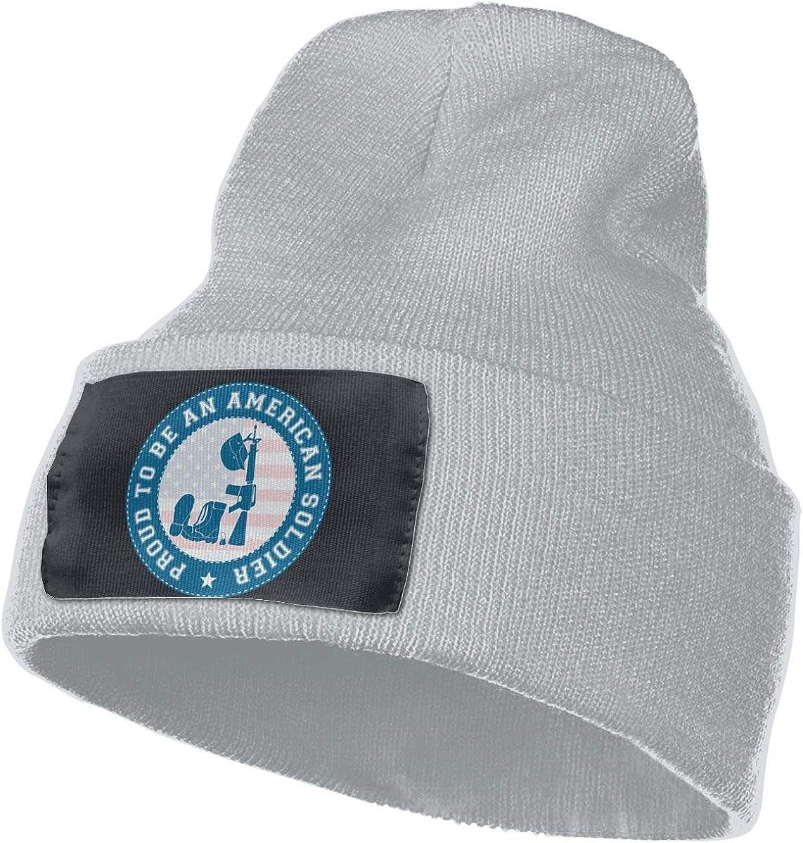 American Soldier Men /& Women Skull Caps Winter Warm Stretchy Knitting Beanie Hats