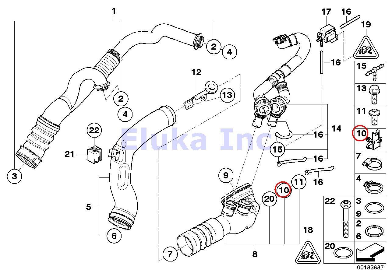 Bmw Genuine Temperature And Manifold Absolute Pressure 2012 F12 650i Sdrive Engine Cooling System Car Parts Diagram Sensor Tmap 535i 535xi X5 35ix 50ix X6 Hybrid 135i M