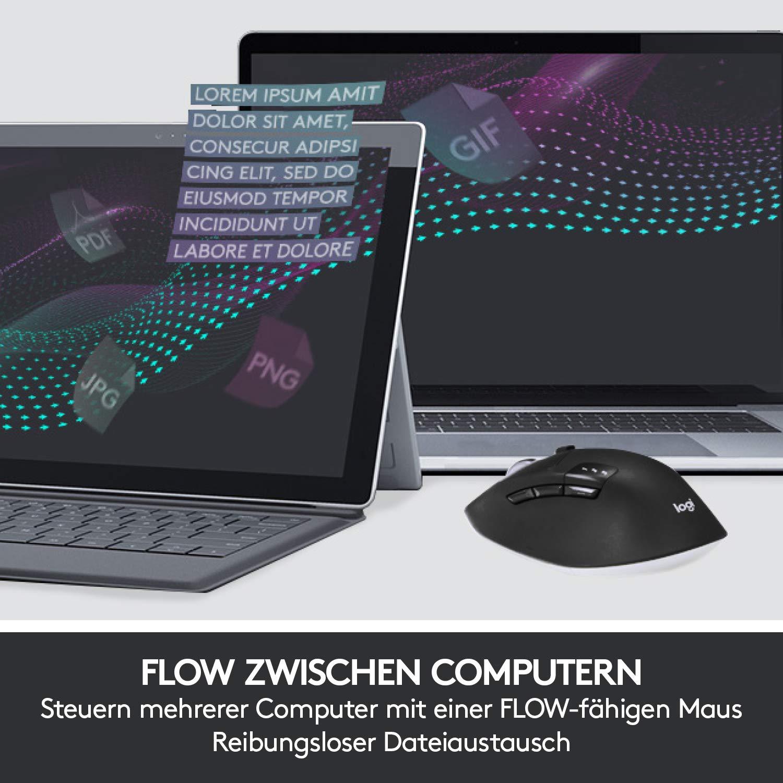 Logitech MK850 Performance 920-008222 Negro USB Teclado y Rat/ón Inal/ámbricos Bluetooth Azerty Franc/és