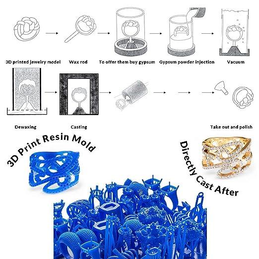 IFUN Jewelry Resina de fundición para DLP Impresora 3D Perdida ...