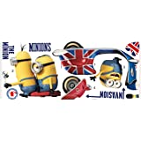 """RoomMates RMK3002GM Minions The Movie Peel and Stick Giant Wall Decals, 33.25"""" x 25.75"""""""