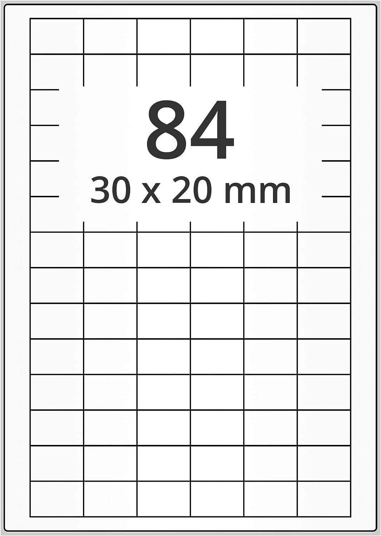 Folienetiketten A4 Bogen 30 x 20 mm silber 2100 Stk. selbstklebend Polyester