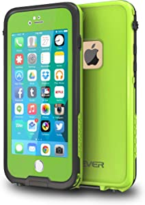 """CellEver iPhone 6 / 6s Case Waterproof Shockproof IP68 Certified SandProof Snowproof Full Body Protective Cover Fits Apple iPhone 6 and iPhone 6s (4.7"""") - Lime Green"""