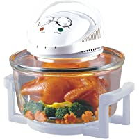 Sentik 12 Litre Premium 1300W White Halogen Oven Cooker + FREE High Rack, Low Rack & Tongs by Sentik