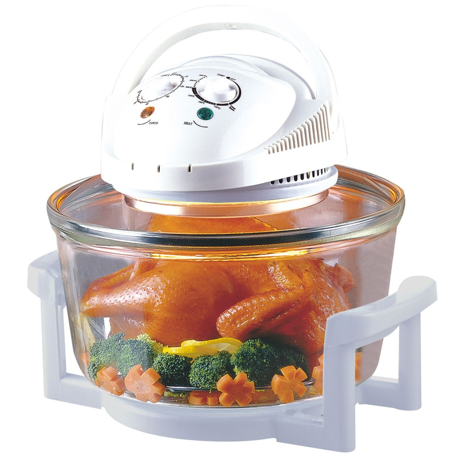 12 Litre Premium 1200W Halogen Oven Cooker with High Rack, Low Rack and Tongs Included (Black) Sentik