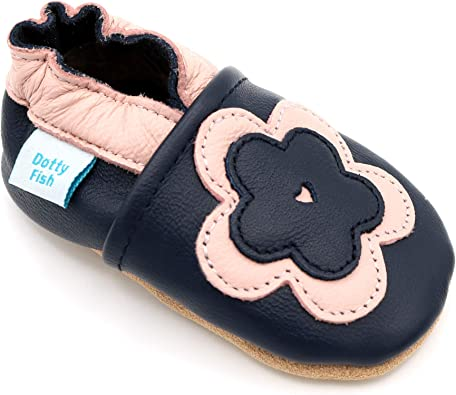 Soft Leather Baby Shoes Big Flower 0-6 months