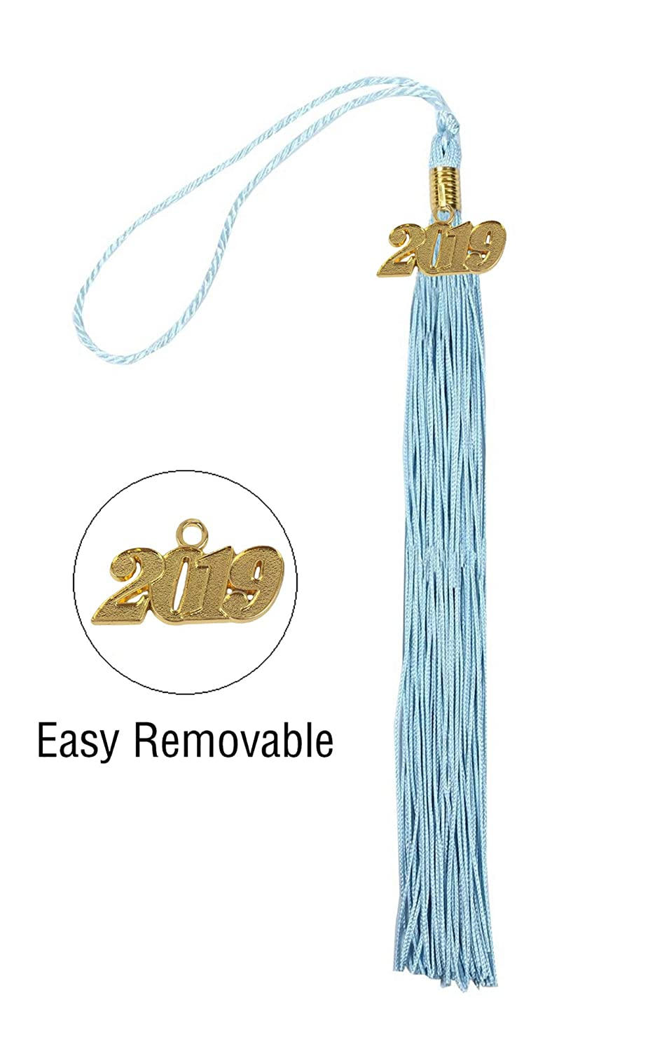 GraduationService Academic Graduation Tassel with 2018 and 2019 Year Charms Available 14 Colors