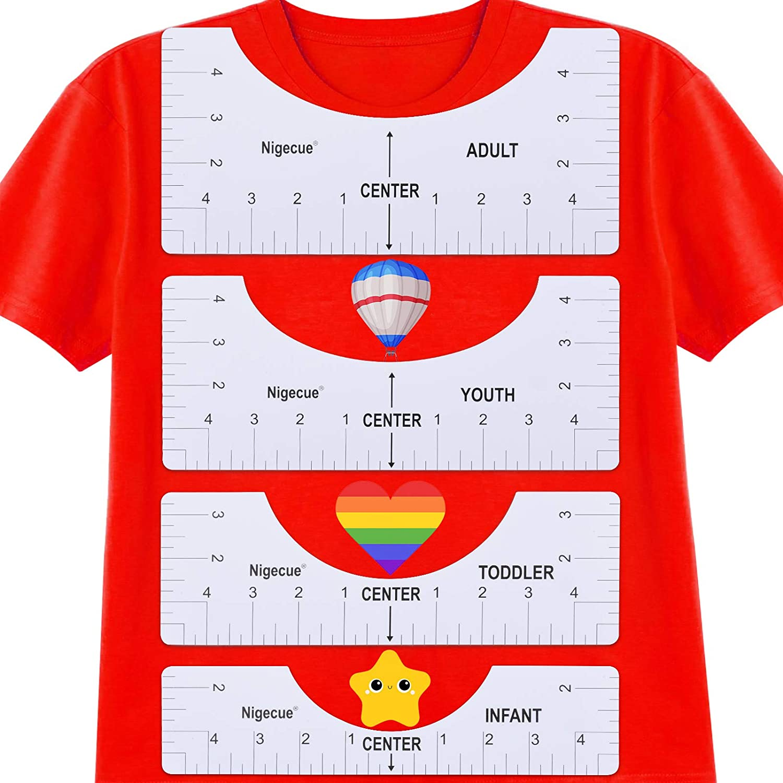 Shirt Ruler for Vinyl Alignment 4 Pcs T Shirt Rulers to Center Designs Tshirt Ruler Guide
