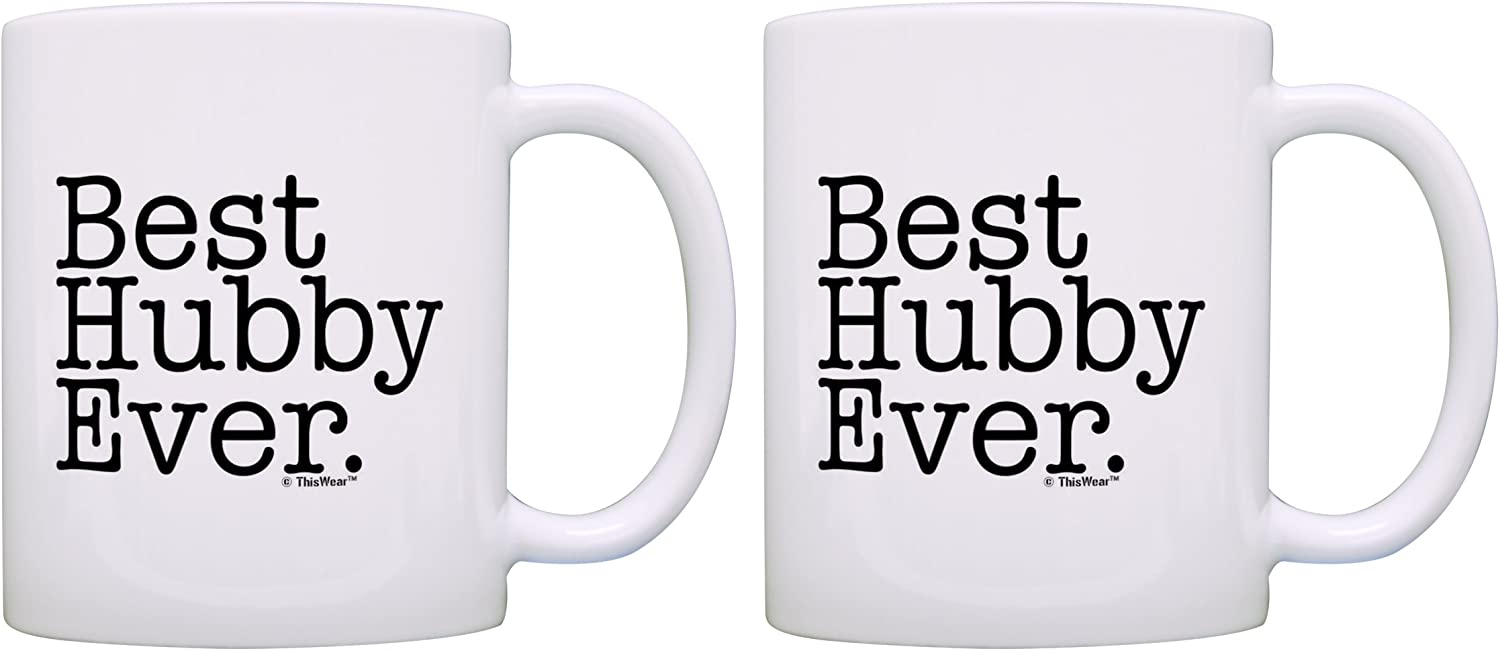 Anniversary Gift Best Hubby Ever Couples Gift Husband Gift Coffee Mug Tea Cup White