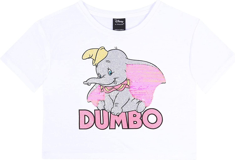 Camiseta Blanca, Top Dumbo Disney. 12-13 Años 158 cm: Amazon ...