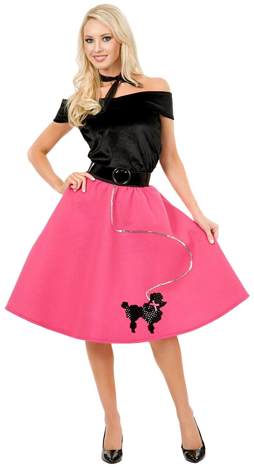 0649359fb4a3 Amazon.com: Poodle Skirt Teen/Junior Costume - Teen: Clothing