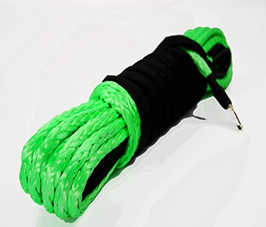 UTV SUV Jutemill Synthetic Winch Rope Green 1//2 x 50ft |UV Resistance Twisted Winch-Cable with Sheath for ATVs Winches|Jeep,ATV Truck Tow//Trailer Accessories Boat Anchor