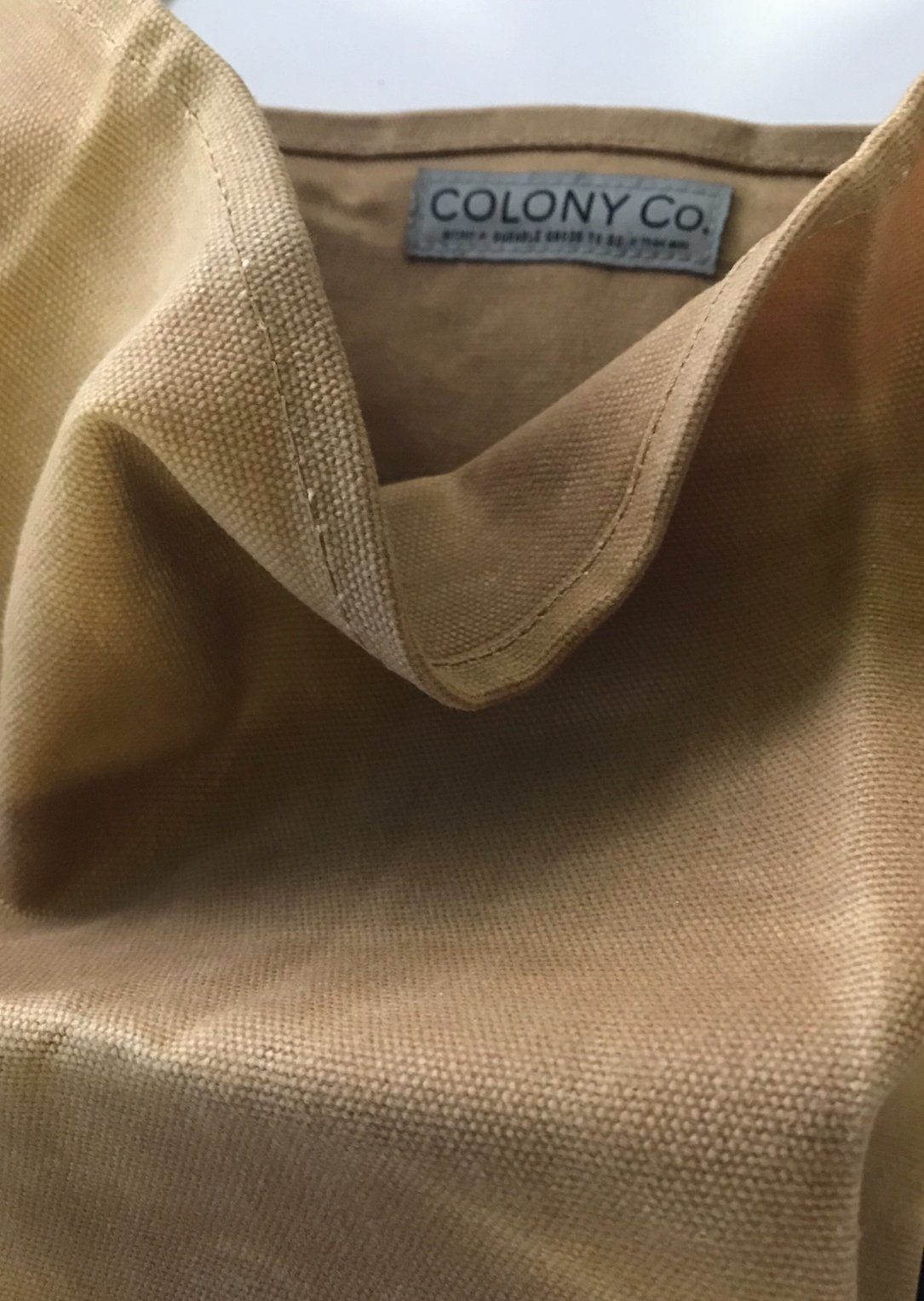 Reusable Grocery Bag | Waxed Canvas | Heavy-Duty | Biodegradable | Foldable | Brown by COLONY CO (Image #3)