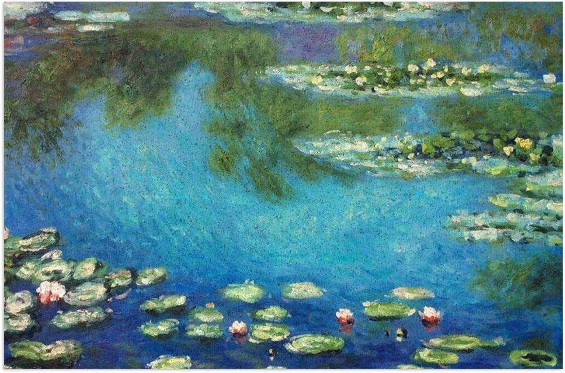 JOROSEEShirley Lilies Claude Monet Water Door Mats,23.6x15.7 Inches Outdoor Indoor Carpet Entrance Doormat Waterproof Front Doormat Inside Outside Non Slip Easy Clean Entryway Rug