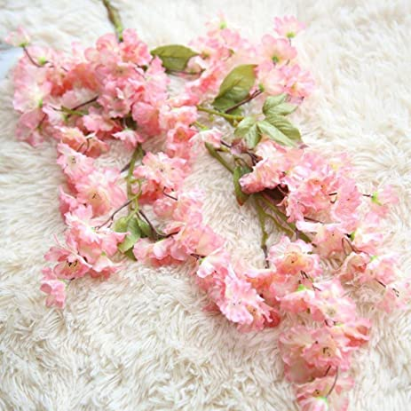 Amazon Nxda Artificial Flowers 1 Bunch Of Cherry Blossom Fake