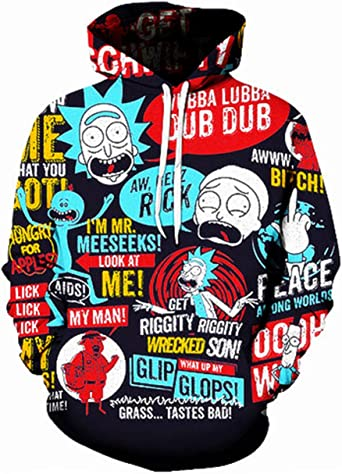 Men//Women Cartoon Rick and Morty 3D Pringting Hoodie Sweatshirts Pullover Top